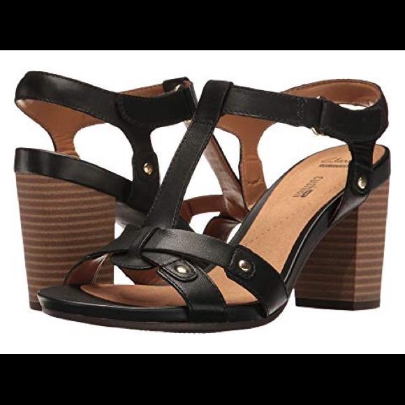 d4818372fde0 Clarks Shoes - Clarks Banoy Valtina block heel sandal